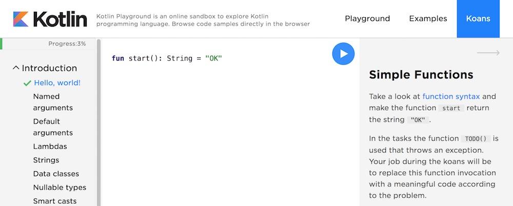Kotlin training materials