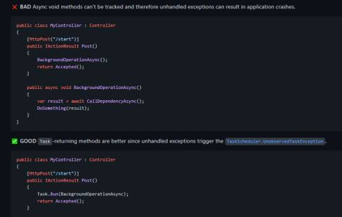 Microsoft: Best practices for asynchronous Programming